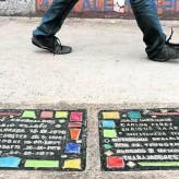 Baldosas por la memoria en el Colegio del Salvador