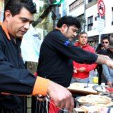 Regalaron ñoquis y empanadas en el Centro porteño