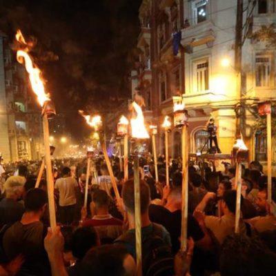 Marcha de Antorchas en San Telmo