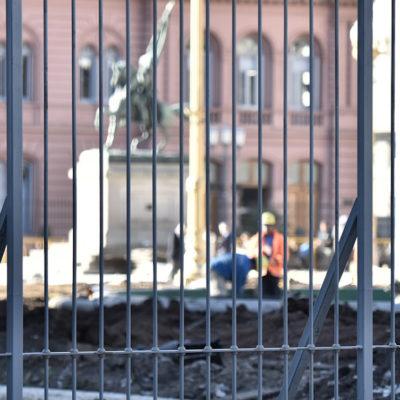 La Plaza de Mayo enrejada