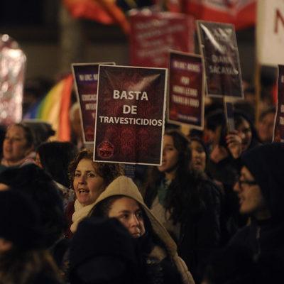28J: Marcha contra los travesticidios transfemicidios
